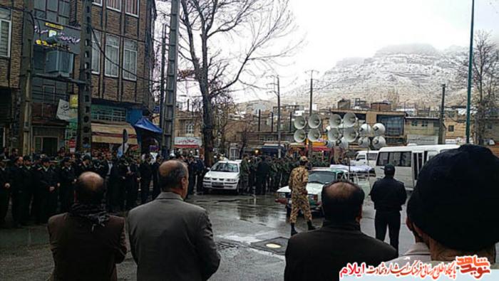 مراسم استقبال ، تشییع و با شهدای گمنام در استان ایلام